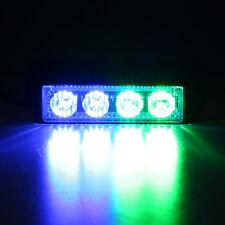 4W 4LED Emergency Light Traffic Flash Strobe Warning Lamp Police Car Blue&Green