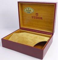 TUDOR Etui / Box - selten - weinrotes Kunstleder 94.00.1 - 1970er Jahre