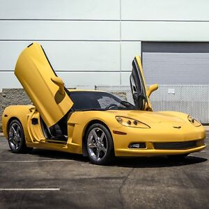 VDI Chevrolet Corvette C-6 2005-2013 Bolt-On Vertical Lambo Doors