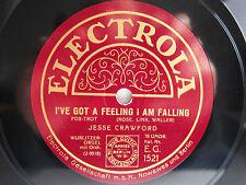 78rpm Jesse Crawford-Foxtrot + Hot solo I 've Got a Feeling I am Falling