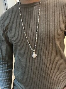 Sterling Sterling Silver Chain For Men's 36 Inches Long With Pendant Or Without