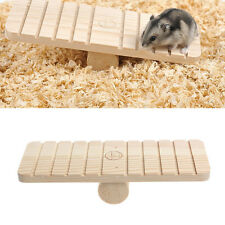 Pet Hamster Rabbit Wooden Seesaw Teeterboard Rat Mouse Mice Small Animal Toys