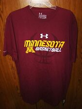 NWT UNDER ARMOUR MINNESOTA GOLDEN GOPHERS BASKETBALL NCAA TOURNAMENT SHIRT XXL