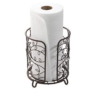 "iDesign Twigz Steel Free-Standing Paper Towel Holder - 7.5"" x 7.5"" x 8"", Bronze"