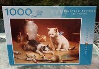 King 1000 piece Jigsaw Puzzle Painting Kittens COMPLETE VGC VINTAGE CATS