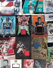 MISC. FOOTBALL AUTOGRAPH AUTO JERSEY PATCH CARD ( 100 ) CARD LOT STARS & RC'S