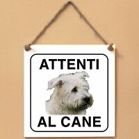Irish Glen of Imaal terrier 1 Attenti al cane Targa cane cartello ceramic tiles