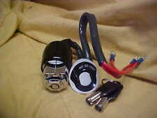 Harley Universal 3 position increased security ignition switch,two tube keys