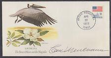 Carl Meuluaner, Artist, signed Louisiana Brown Pelican & Magnolia Cover