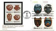 1834-37 Indian Masks Carrollton plate block  FDC