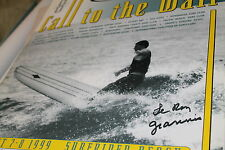 Lance Carson Call To Wall Contest Malibu Surfrider 1999 Leroy Grannis Poster