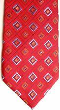 "Bellini Men's Polyester Tie 59"" X 3.75"" Red w/ multiple color Geometric"