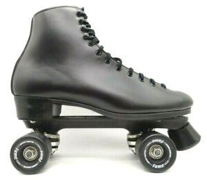 Vintage Dominion Canada Marathon IV Black Boot Quad Roller Skates Men's 11