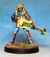 Guitarist With Machine Pistol 28mm Unpainted Metal Wargames