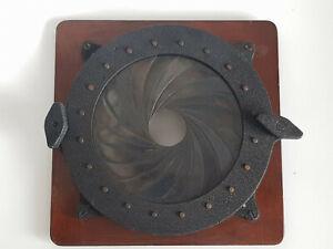 Big Universal Iris clamp, Lens chuck for brass lens, Large format, ULF camera.