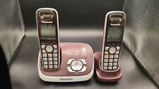 Panasonic KX-TG6521 Cordless DECT 6.0 PLUS Phone & Answering machine 2 handsets
