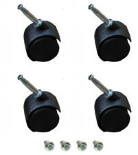 4 X TWIN WHEEL CASTORS - FOR DIVAN BEDS - SOFAS - CHAIRS - ETC.....