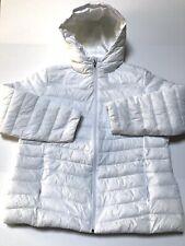 Spyder ThermaWEB Xt Hooded White Ski Winter Snow Coat Jacket Womens Size Large