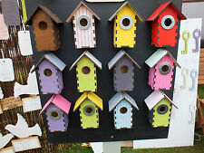 2 x Bird Nest Box Suitable Blue/Great Tits Sparrows Finch Coal Tits Pied Fly