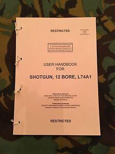 REMINGTON M870 L74A1 SHOTGUN 12 GAUGE HANDBOOK SAS SO19 CO19 IRANIAN EMBASSY