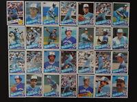 1985 Topps Toronto Blue Jays Team Set of 28 Baseball Cards