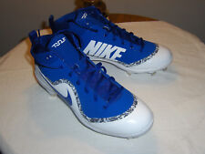 NIKE FORCE AIR TROUT 4-PRO CLEATS-BLUE w/WHITE  MENS SIZE 10  ( NEW IN BOX )