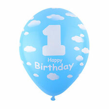 20X Cloud Sky Blue Latex Balloons Baby 1st B-day First Birthday Party Decoration