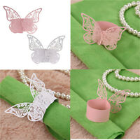 50Pcs Butterfly Napkin Ring Paper Holder Table Party Wedding Favors Banquet H&T