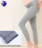 Women Maternity Pregnant Mum Belly support Cotton Black Leggings Tights Pants