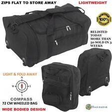 Extra Large Fold Away Wheeled Holdall Travel Sports Duffel Bag New Compass Brand