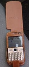 Téléphone Nokia E72 + housse en cuir fait main