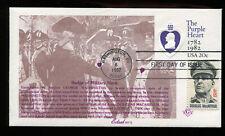 #U603 20c Purple Heart Envelope Fdc Combo w #1424 Edsel Masonic Cachet Ua G312