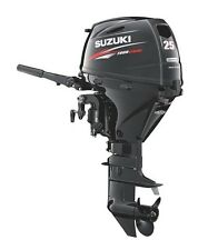 "Suzuki 25hp DF25AES Outboard, EFI, 4-stroke, 15"" Shaft - Electric start - Tiller"