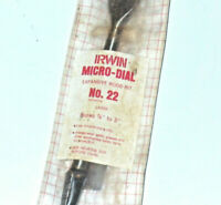 Vtg Irwin Micro Dial Expansive Wood Bit No. 22 Bores 7/8'' To 3'' with bag drill