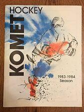 1983-84 Komet Hockey Season Fort Wayne Indiana Program Books Very Nice Condition