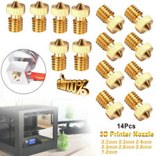 14x 7Sizes 3D Printer Extruder Brass Nozzle Print for E3D Makerbot M6 Fast Hot