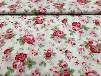 Cath Kidston Ikea ROSALI 100% Cotton Fabric Material *150cm wide* WHITE ROSE