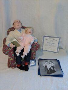 """Ashton Drake Porcelain Dolls:""""I'll Finish The Story Grandpa"""" 1995 with box & COA"""