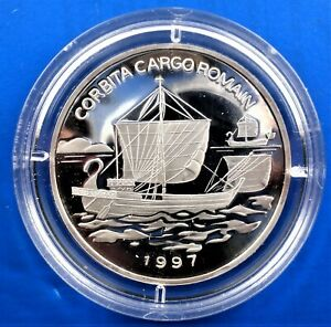 Series, ships in silver coins KONGO 1000 Francs 1997 - Proof UNC in a kapsel
