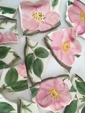 New listing Broken China Mosaic Tiles Franciscan Desert Rose