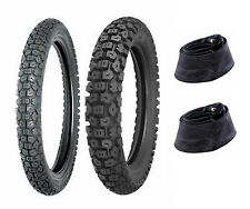 New Shinko 2.75-19 & 3.00-17 244 Series Tire & Tube Set For 82-01 Kawasaki KE100