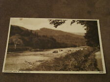 1950s postcard - Path by the Tummel - Pitlochry Perthshire