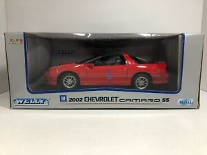 WELLY 2002 CHEVROLET CAMARO SS RED 1:18 SCALE DIECAST FREE SHIPPING