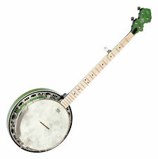 Ortega OBJE400TGR 5-String Banjo Grün Falcon Tonabnehmer Wölkchenahorn Gigbag