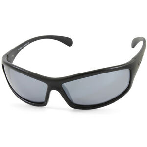 Dirty Dog Swivel Satin Black/Silver Mirror Polarised Men's Sunglasses 53411