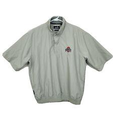 New listing Ashworth Golf Short Sleeve Windbreaker Ohio State Buckeyes Mens Size M Beige EUC