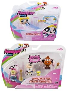 Powerpuff Girls x4 Action Figures Bubbles Fuzzy The Mayor Manboy 09-05 *