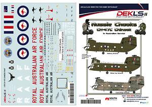 1/35 Scale Decals Australian CH-47C Chinook RAAF 12 SQN - 3 Options - DEKL's II