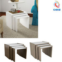Nest of 3 Coffee Table Set Side End Tables Living Room Storage Sofa Side Table