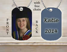 Personalized Custom Necklace Dog Tag Graduation Graduate Grad Photo Picture